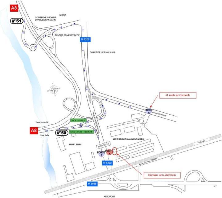 Le plan du MIN de Nice aujourd'hui (crédit : Métropole Nice Côte d'Azur)
